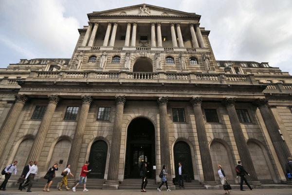 Budova Britskej centrálnej banky.
