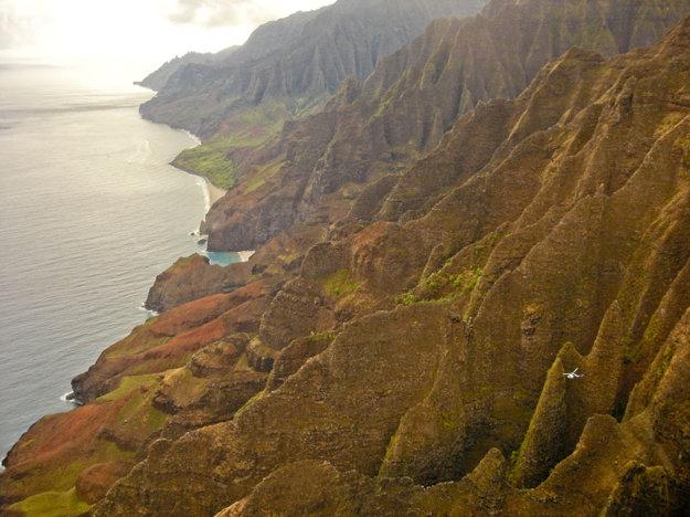 Nā Pali Coast z helikoptéry