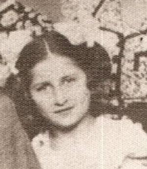 Julianna Földesné ako dievča