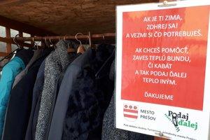Vešiak pomoci je opäť v Prešove.