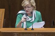 Ministerka kultúry Ľubica Laššáková (Smer).