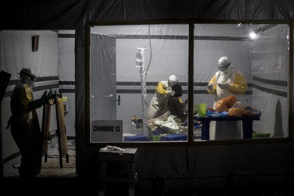 Laborattórium na boj proti ebole v meste Butembo.