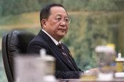 Severokórejský minister zahraničných vecí Ri Jong-ho.
