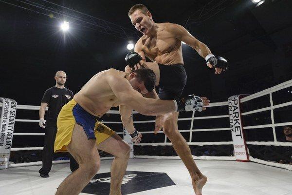 Na fotografii Michal Mokrý vs. Michail Demina (Ukrajina).