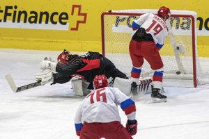 Momentka zo zápasu Rusko - Švajčiarsko.