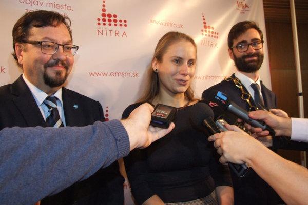 Zľava Daniel Balko, Michaela Hefková a Marek Hattas.