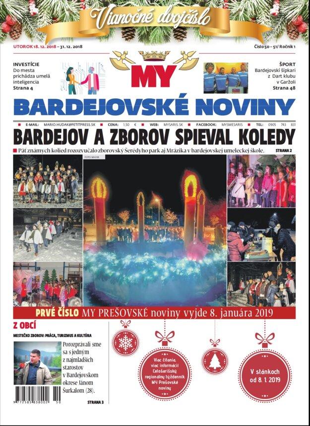 Vianočné dvojčíslo Bardejovských novín prináša kopu zábavy.
