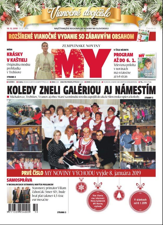 Vianočné dvojčíslo týždenníka MY Zemplínske noviny je plné sviatkov a zábavy.