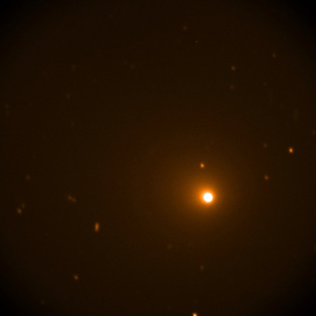 Záber kométy Wirtnane zo stratosférického observatória SOFIA, ktorý vznikol 16. a 17. decembra.