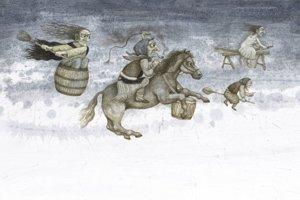 Ilustrácia z knihy Rozprávky starých Slovákov Samuela Reussa, vydavateľstvo Tatran 2018.