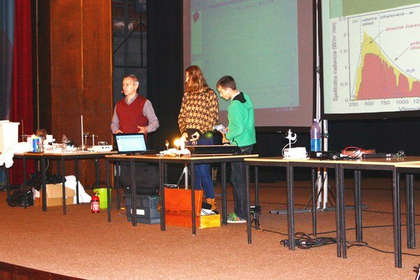 Elektrotechnika v bežnom živote. Školákom ju ukázal Gabriel Cibira z Inštitútu Aurela Stodolu Elektrotechnickej fakulty Žilinskej univerzity v Liptovskom Mikuláši.