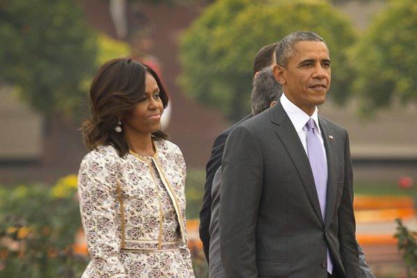 Manželia Obamovci.