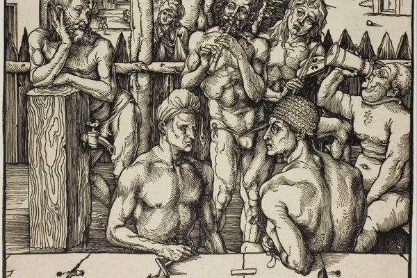 Stredoveký kúpeľ podľa kresby Albrechta Dürera.