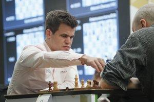 Magnus Carlsen na majstrovstvách sveta v bleskovom šachu v Petrohrade.