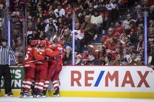 Ruskí juniori sa tešia po výhre nad Kanadou na MS v hokeji do 20 rokov 2019.