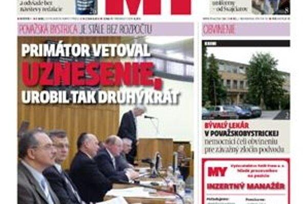 Vyšlo nové číslo MY noviny stredného Považia