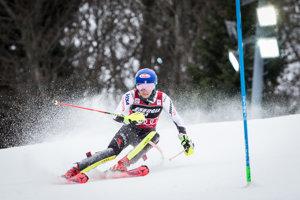 Mikaela Shiffrinová počas prvého kola pretekov svetového pohára v slalome žien v chorvátskom Záhrebe.
