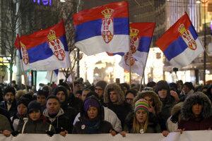 Protest v Belehrade.