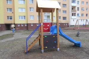 Nové detské ihrisko na Sibírskej ulici na sídlisku Sekčov.