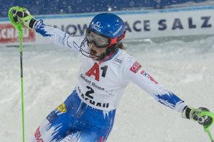 Petra Vlhová po dojazde do cieľa slalomu vo Flachau.