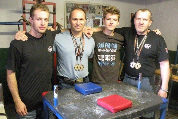 Na fotografii zprava: Igor Kubo, Ján Labaj, Martin Kubík a Pavol Baka.