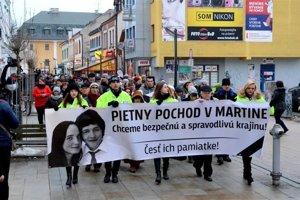 Pietny pochod v Martine z marca 2018.