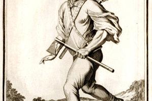 Karpatský zbojník na rytine Caspara Luykena z roku 1703.