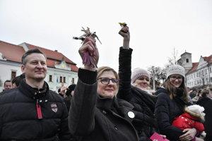 Pochody za Slušné Slovensko sa uskutočnili aj v Skalici.