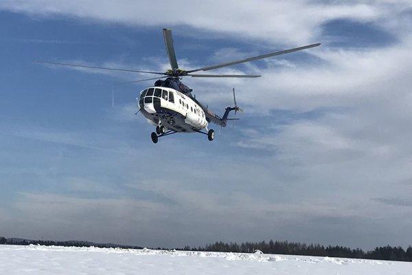 V Novoti zasahoval vrtuľník Mi 17.