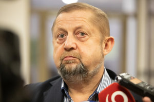 Štefan Harabin, exminister spravodlivosti za HZDS a bývalý šéf Najvyššieho súdu. Kandiduje ako občiansky kandidát.
