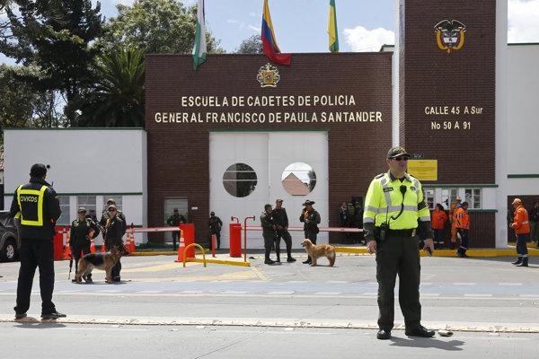 Policajná akadémia v Bogote.