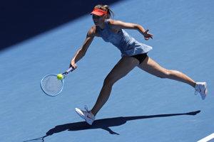 Ruska Maria Šarapovová v osemfinále Australian Open 2019.