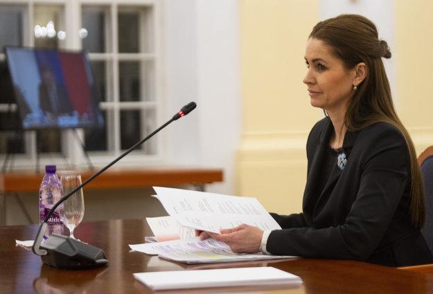 Kandidátka na post ústavného sudcu Edita Pfundtner.
