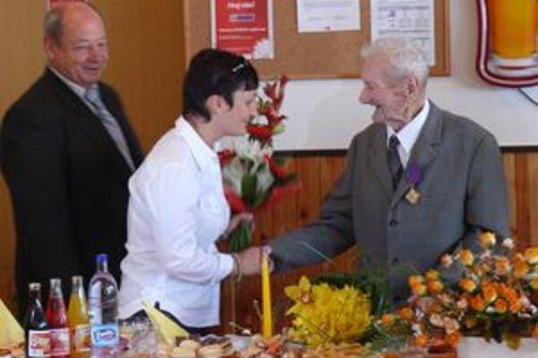 Štefan Zboran počas oslavy svojho jubilea.