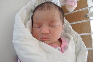 Adela Ješková (3460 g, 53 cm) sa narodila 22. januára Adriane a Lukášovi z Nového Mesta nad Váhom.