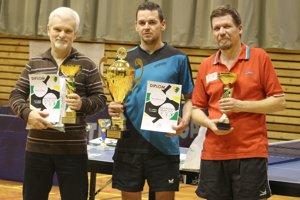 Traja najlepší. Zľava: Tóth, Ruman, Libiak.