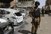 Vojak ozbrojených síl Burkina Faso.