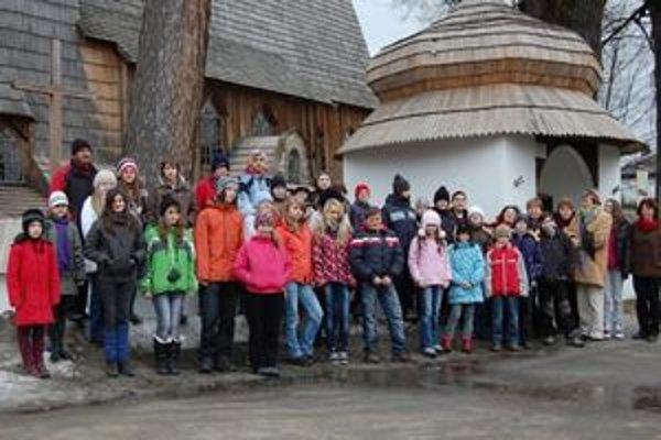 Na ceste za zaujímavosťami Nového Targu nechýbali ani deti.