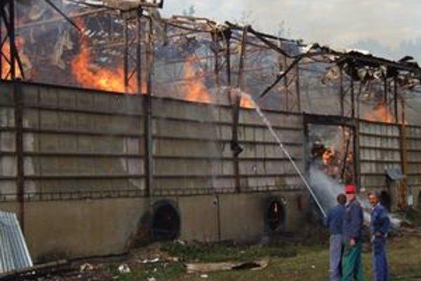 Profesionálnym hasičom pri požiari pomáhali viacerí dobrovoľníci.
