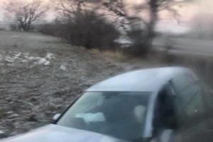 Foto z nehody za Petrovou Vsou v smere do Holíča.