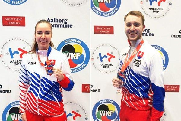 Laura Pálinkášová a Tomáš Kósa sa tešia z bronzu na MEJ.