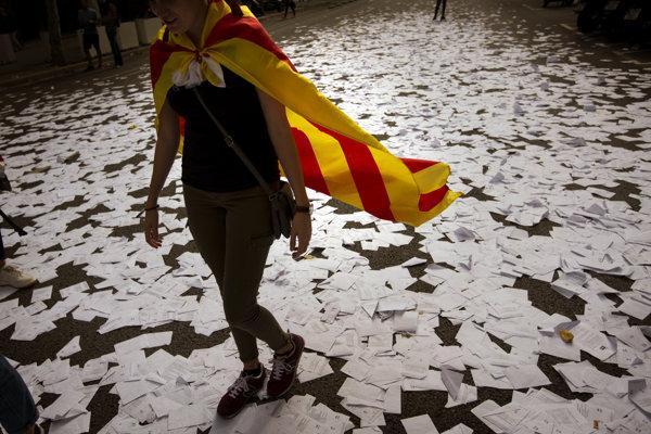 Katalánske referendum o nezávislosti sa neskončilo jasným úspechom - ilustračná fotografia.