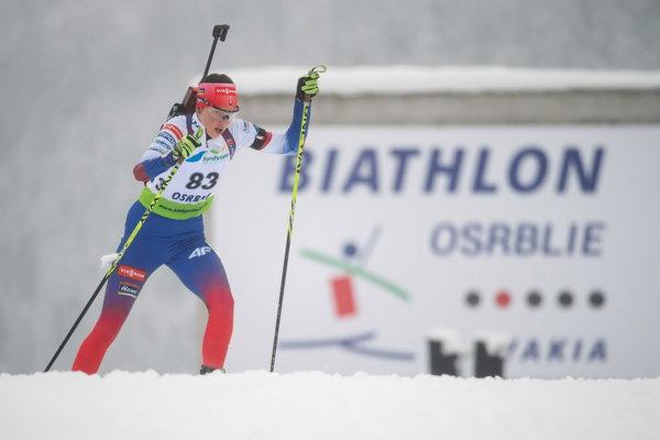 Zuzana Remeňová na trati.