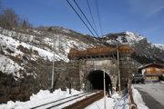 železničná trať pred tunelom Frejus z roku 1871
