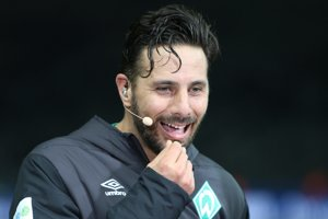 Na snímke futbalista Claudio Pizarro z Werderu Brémy.