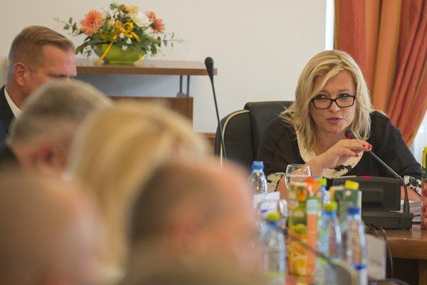 Na snímke predsedníčka Súdnej rady SR Lenka Praženková.