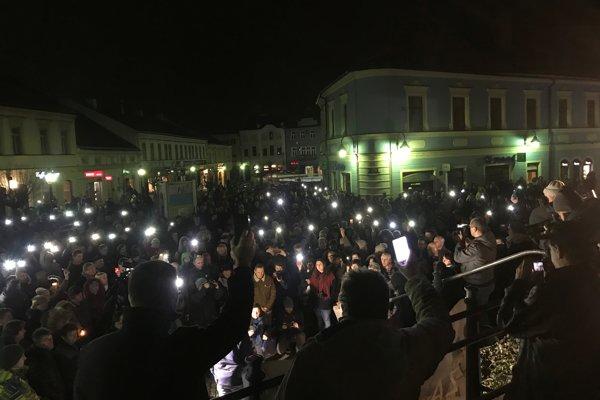 V Trenčíne sa zišlo približne 700 ľudí.