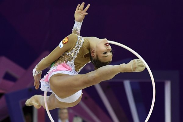 Alexandra Soldatovová je štvornásobnou majsterkou sveta v modernej gymnastike.