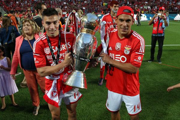 Nicolas Gaitan (vľavo) ešte v drese Benficy Lisabon.