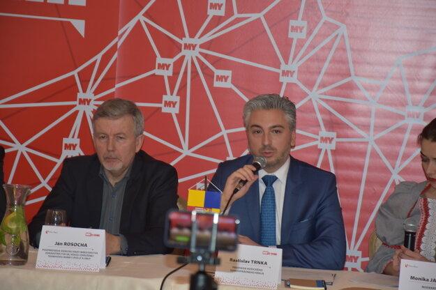 Stretnutie so županom Rastislavom Trnkom, županom Košického samosprávneho kraja (s mikrofónom).
